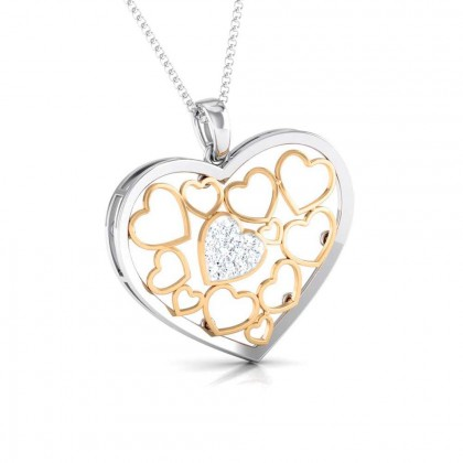 GISELE   DIAMOND HEARTS PENDANT in 18K Gold