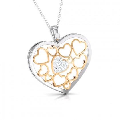 GISELE   DIAMOND HEARTS PENDANT in 18K Gold