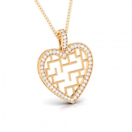 MAGDALEN   DIAMOND HEARTS PENDANT in 18K Gold