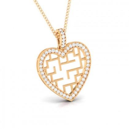 MAGDALEN   DIAMOND HEARTS PENDANT in 18K Gold