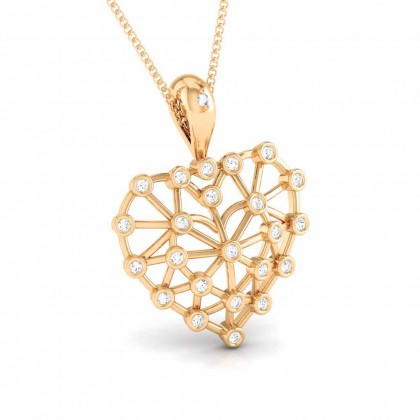 CARITA   DIAMOND HEARTS PENDANT in 18K Gold