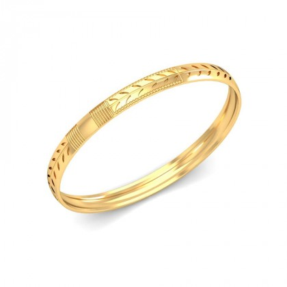 SAANVI  BANGLE in 18K Gold