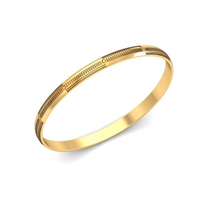 AKSHARA  BANGLE in 18K Gold
