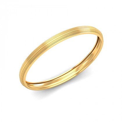TRISHA  BANGLE in 18K Gold