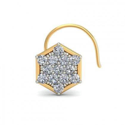 SAILOR DIAMOND  NOSEPIN in 18K Gold