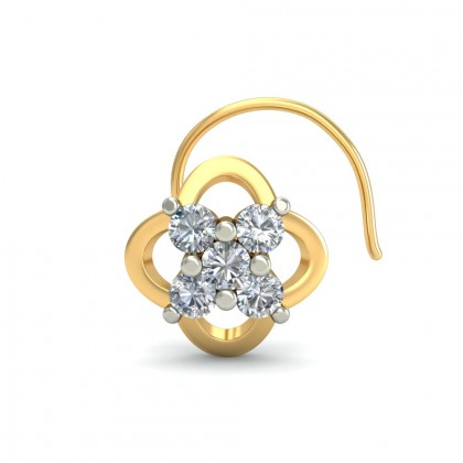 EKANI DIAMOND  NOSEPIN in 18K Gold