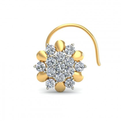 ROYA DIAMOND  NOSEPIN in 18K Gold