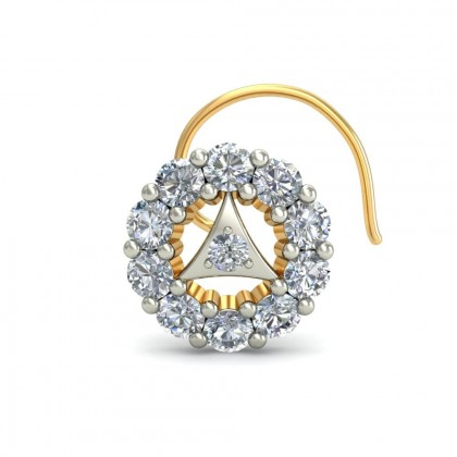 MEHULI DIAMOND  NOSEPIN in 18K Gold