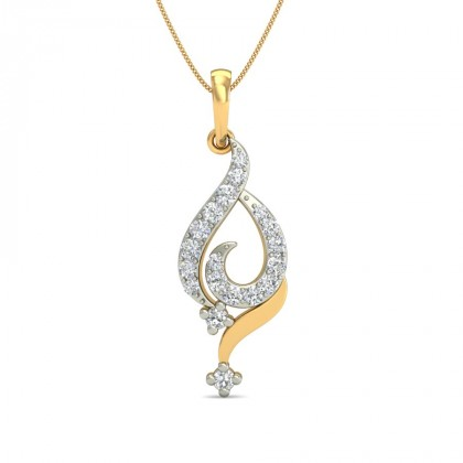 RYLEIGH DIAMOND FASHION PENDANT in 18K Gold