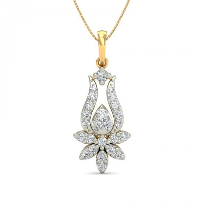 TORSHA DIAMOND FLORAL PENDANT in 18K Gold