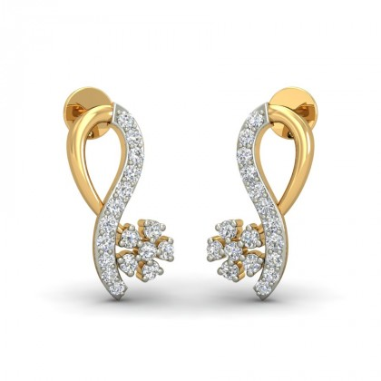 JORDAN DIAMOND STUDS EARRINGS in 18K Gold