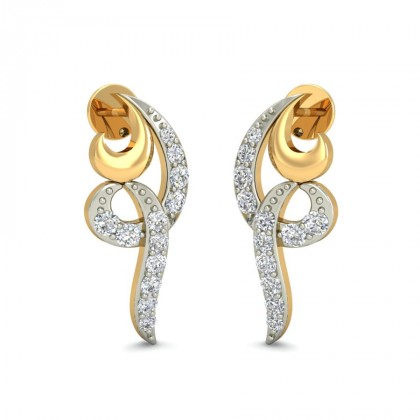 BANHI DIAMOND STUDS EARRINGS in 18K Gold