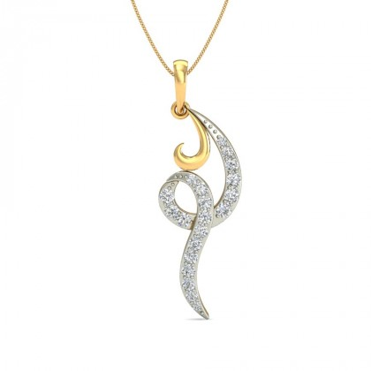 ANSHA DIAMOND FASHION PENDANT in 18K Gold