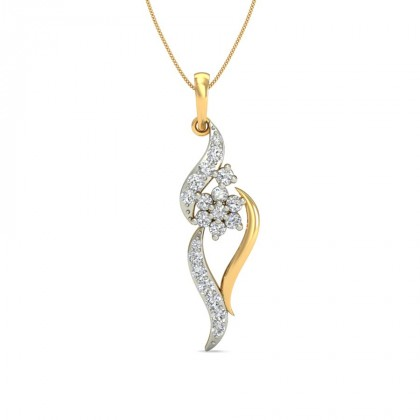 KRISTY DIAMOND FASHION PENDANT in 18K Gold
