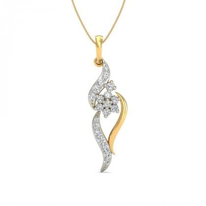 KRISTY DIAMOND FASHION PENDANT in 18K Gold