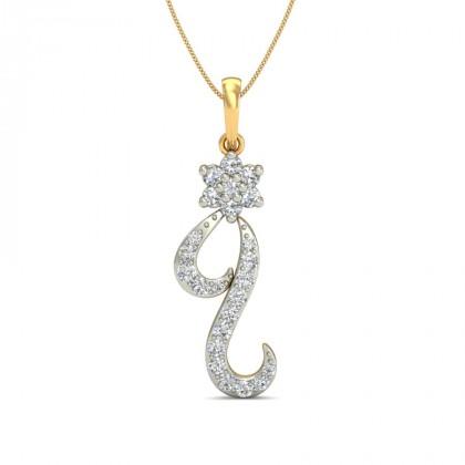 LITZY DIAMOND FASHION PENDANT in 18K Gold
