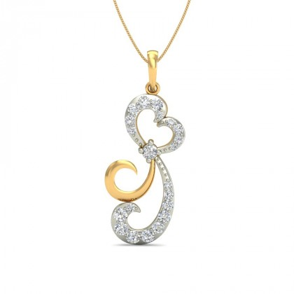 MAYLENE DIAMOND FASHION PENDANT in 18K Gold