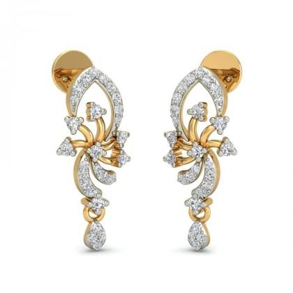 SOLANGE DIAMOND DROPS EARRINGS in 18K Gold