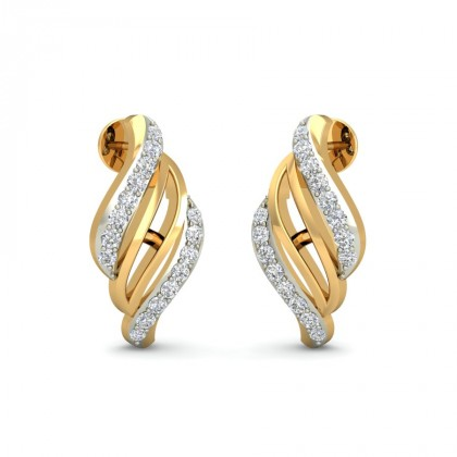 PRITHA DIAMOND STUDS EARRINGS in 18K Gold