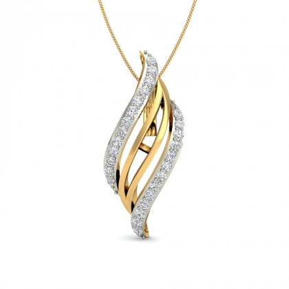 TEJI DIAMOND FASHION PENDANT in 18K Gold