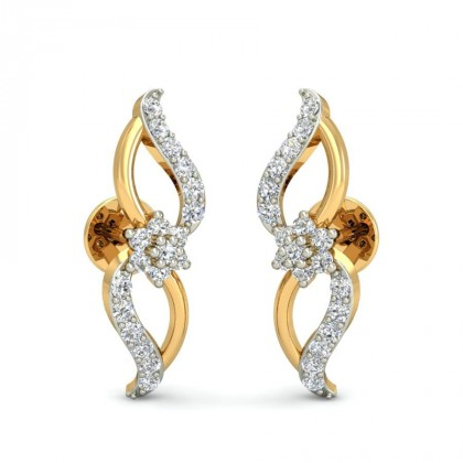 AVALYN DIAMOND STUDS EARRINGS in 18K Gold