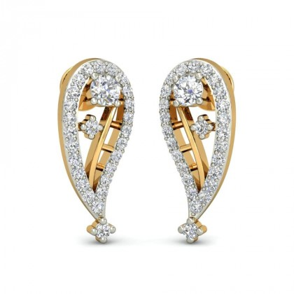 GOPIKA DIAMOND STUDS EARRINGS in 18K Gold
