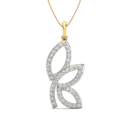 SAUMYI DIAMOND FLORAL PENDANT in 18K Gold