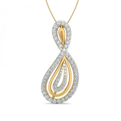 MELONY DIAMOND FASHION PENDANT in 18K Gold