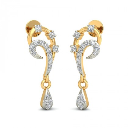 TANMAYA DIAMOND DROPS EARRINGS in 18K Gold