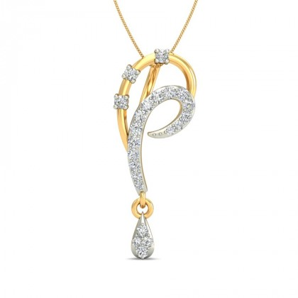 ALIYA DIAMOND FLORAL PENDANT in 18K Gold