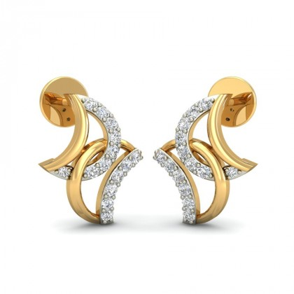 PRANALI DIAMOND STUDS EARRINGS in 18K Gold