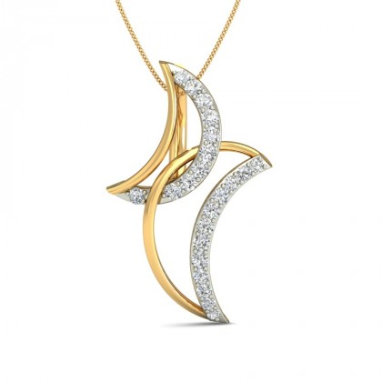 RITIKA DIAMOND FLORAL PENDANT in 18K Gold