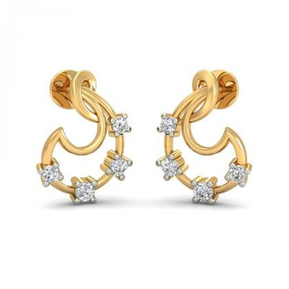 AMLA DIAMOND STUDS EARRINGS in 18K Gold