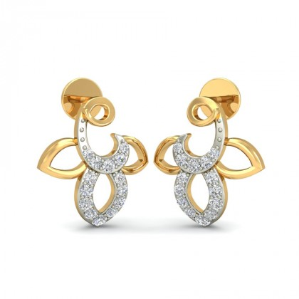 KOMALA DIAMOND STUDS EARRINGS in 18K Gold