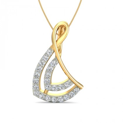 MENAKA DIAMOND FASHION PENDANT in 18K Gold