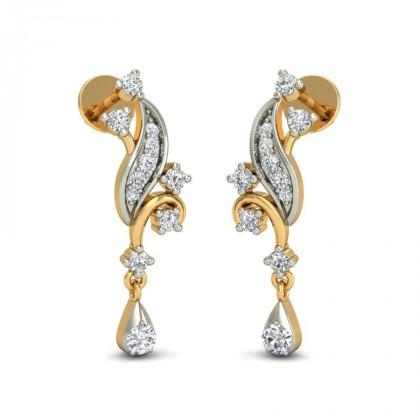 VIJAYA DIAMOND DROPS EARRINGS in 18K Gold
