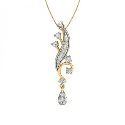 KIRTANA DIAMOND FLORAL PENDANT in 18K Gold