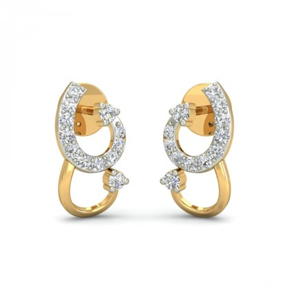 PUJI DIAMOND STUDS EARRINGS in 18K Gold