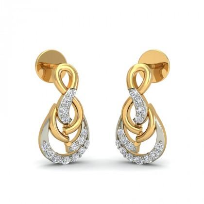CALI DIAMOND STUDS EARRINGS in 18K Gold