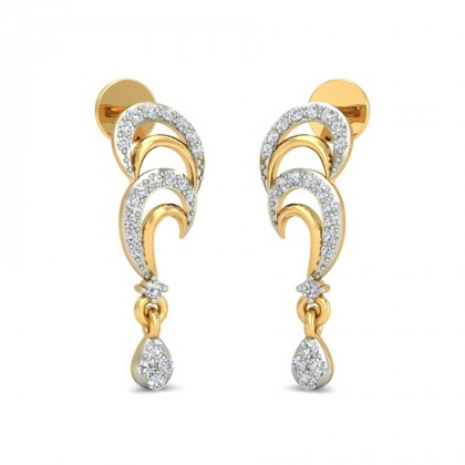 SAESHA DIAMOND DROPS EARRINGS in 18K Gold