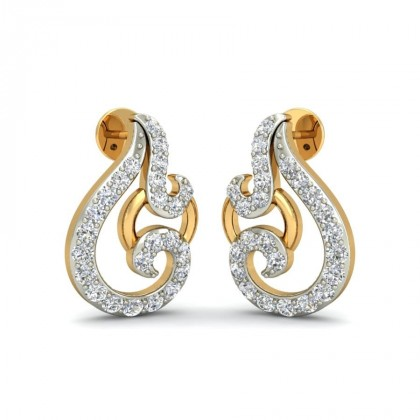 RUHI DIAMOND STUDS EARRINGS in 18K Gold