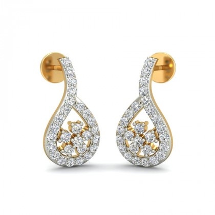 RAYA DIAMOND STUDS EARRINGS in 18K Gold