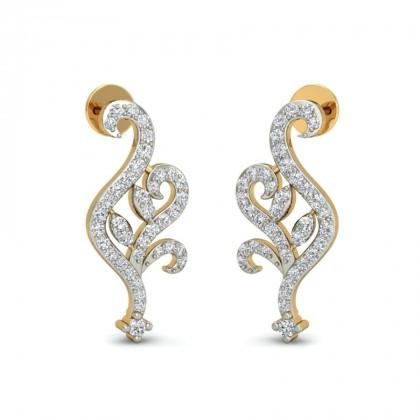 KLOE DIAMOND STUDS EARRINGS in 18K Gold