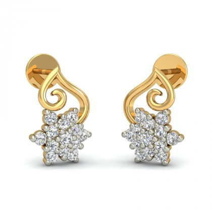 BLANCA DIAMOND STUDS EARRINGS in 18K Gold