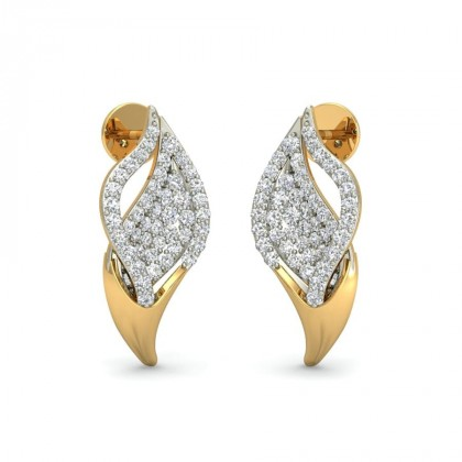 ARYANA DIAMOND STUDS EARRINGS in 18K Gold