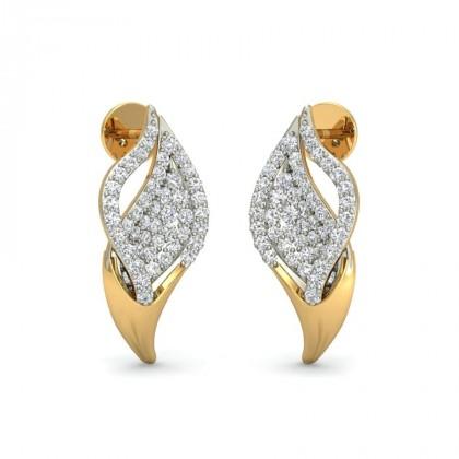 ARYANA DIAMOND STUDS EARRINGS in 18K Gold