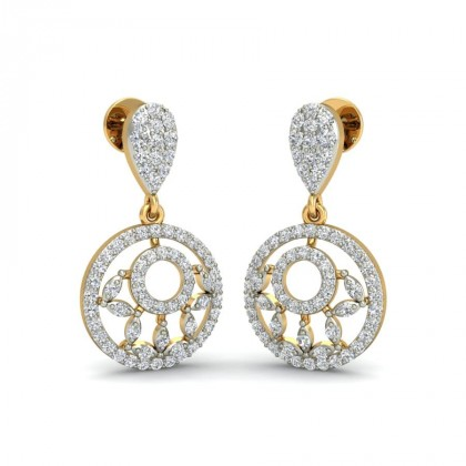 PAVAKI DIAMOND DROPS EARRINGS in 18K Gold