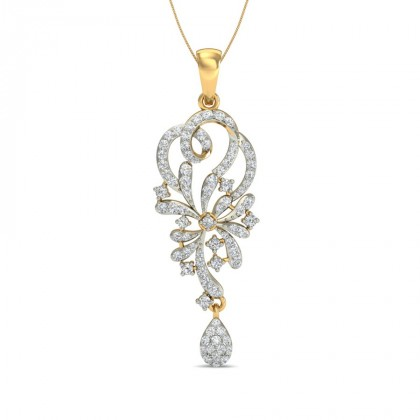 SAMA DIAMOND FASHION PENDANT in 18K Gold