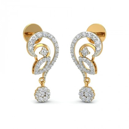 SAMITA DIAMOND DROPS EARRINGS in 18K Gold