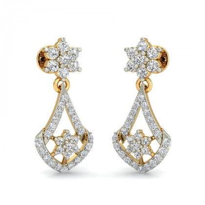 BINDU DIAMOND DROPS EARRINGS in 18K Gold
